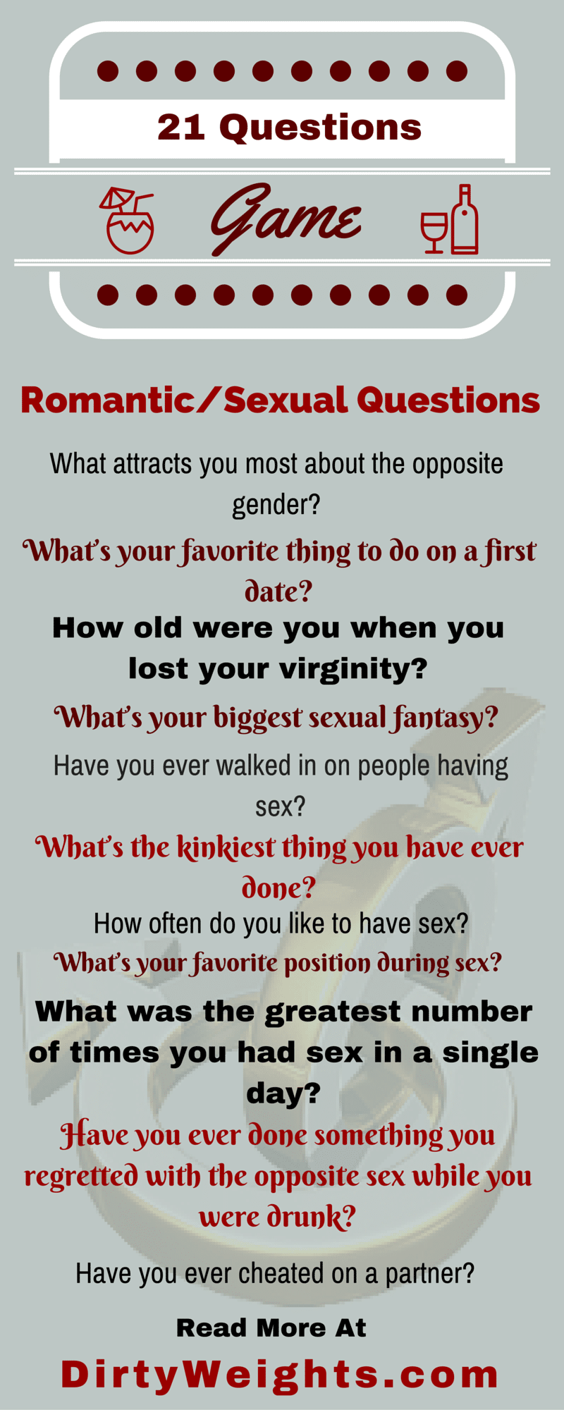 21 Questions To Ask A Guy Dirty