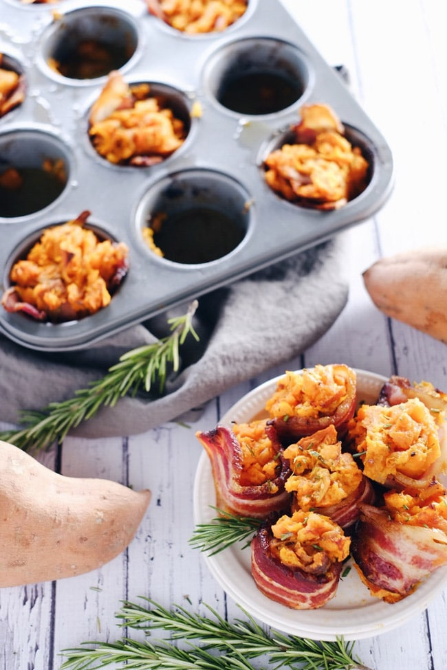SWEET POTATO BACON CUPS