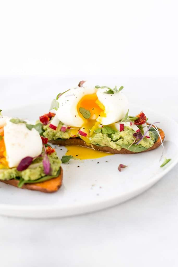 Sweet Potato Avocado Toast With Soft Boiled Eggs