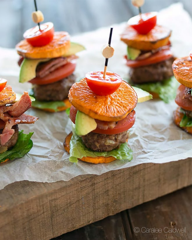 sweet potato and beef sliders