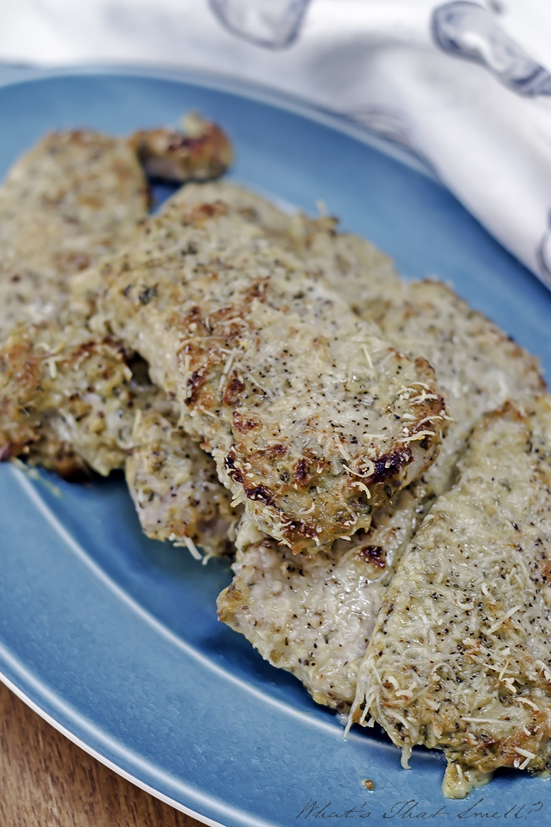 Low Carb Parmesan Dijon Pork Chops